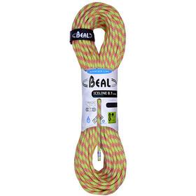 Beal Ice Line Cuerda 8,1mm 50m, anise/orange